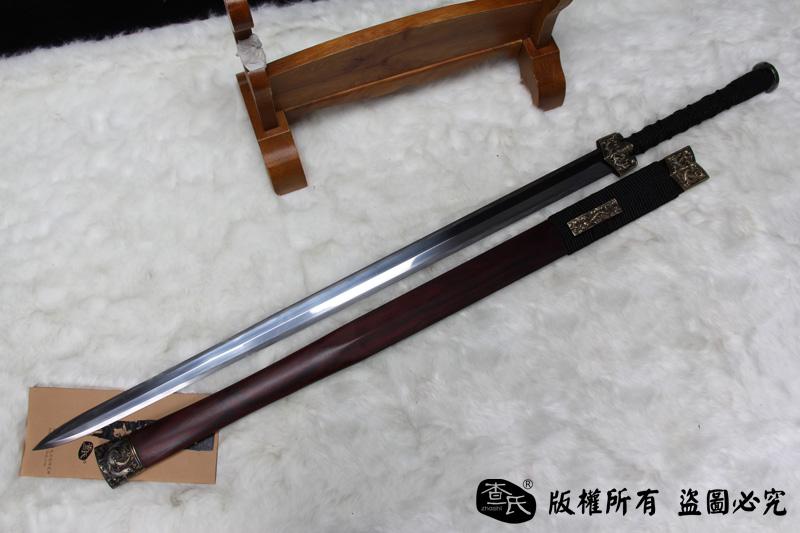 八面汉剑和唐刀囹�a_紫檀毛铁八面汉剑 -精品