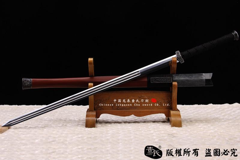 八面汉剑和唐刀囹�a_铁装错银切刃八面汉剑