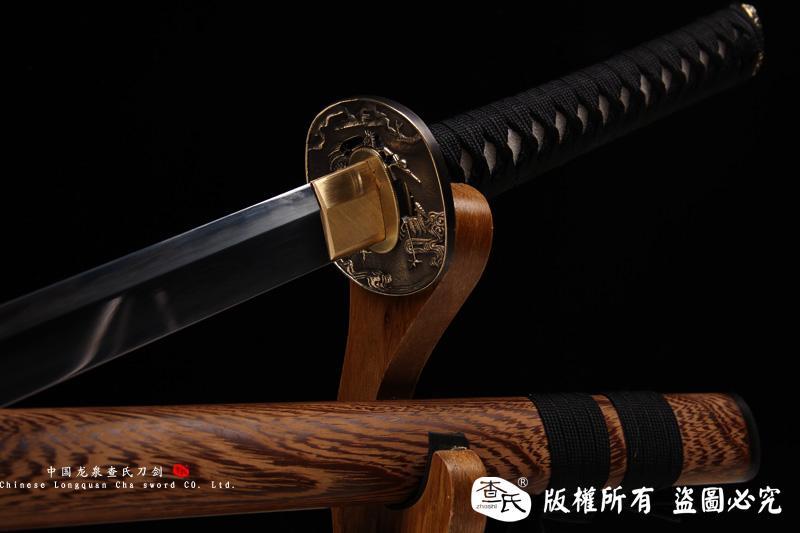 精品唐刀形直刀(26寸地肌烧刃)