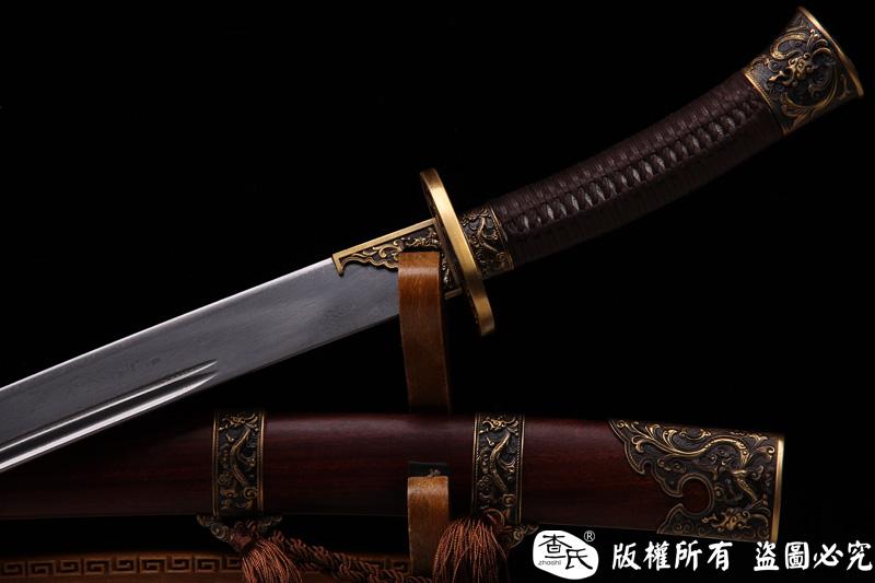 铜装龙图清刀-花纹钢