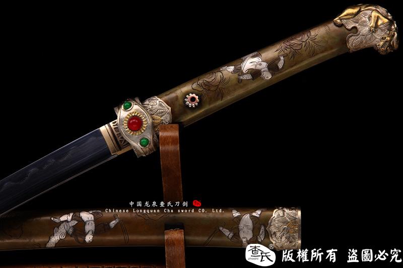 狮斩-精品武士刀-全铜鞘镀银装具