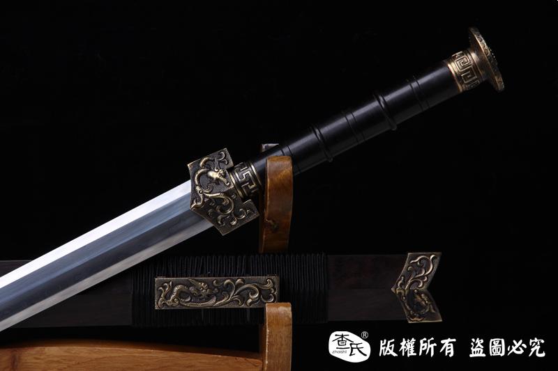 花纹钢烧刃八面汉剑-经典