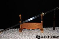 昆吾--白铜装百炼钢烧刃唐剑-诸刃唐刀