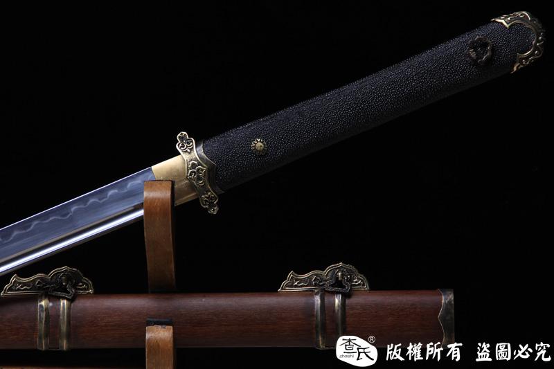 曦影-精品唐刀-珍珠鱼皮柄
