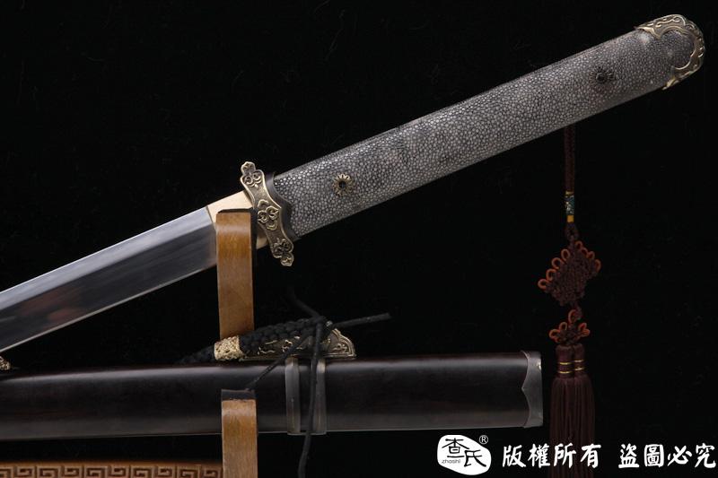 无影唐刀-t10烧刃-珍珠鱼皮手柄