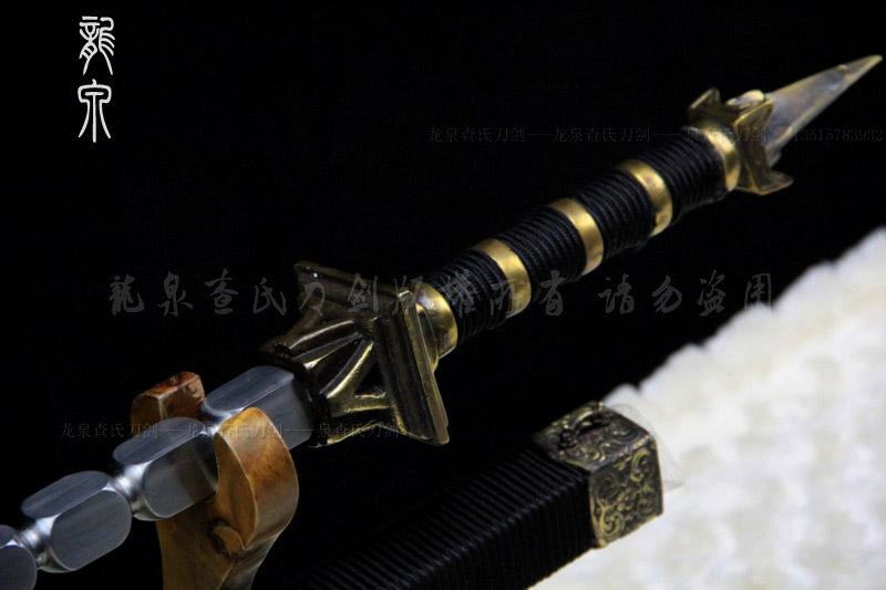 手工传统方节鞭-百炼钢精品