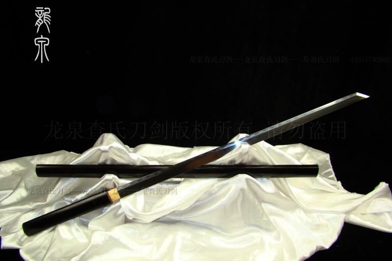 牛角檀木唐刀(地肌烧刃26寸)