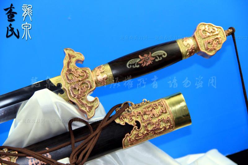 精装龙泉王者剑(纯古法独家手工制作,黄铜,白铜,紫铜装饰)-极品