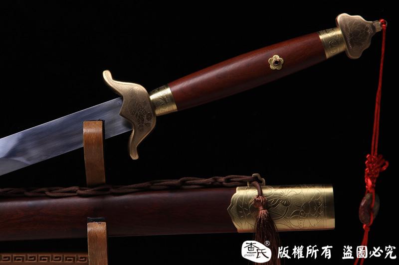 上等武术硬剑 -外饰刻莲花图案-螳螂剑