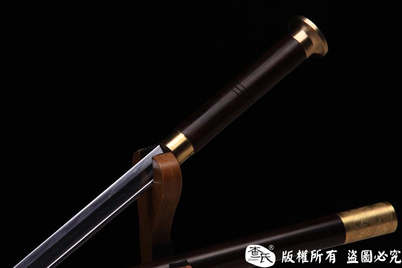 檀木唐刀形手杖剑-加大款