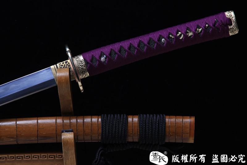 凤凰装精品武士刀-三枚合工艺