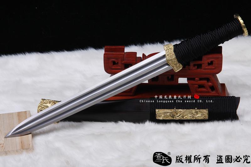 小龙纹-檀木小汉剑-可以砍铁