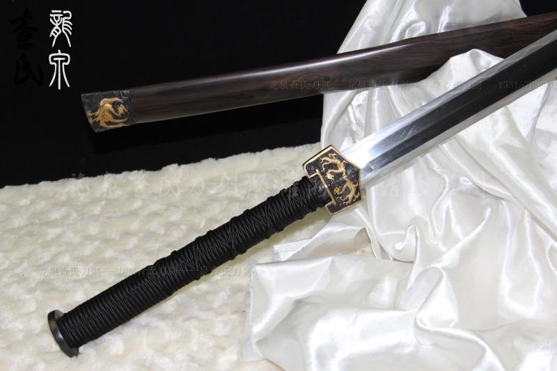 鎏金四圣高端八面汉剑-古法锻造-精工版