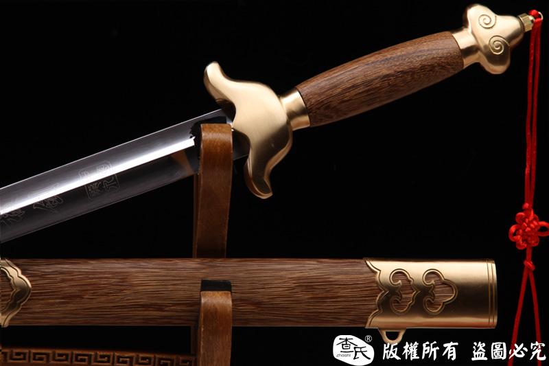 实用铜装太极剑-武术软剑-加厚铜装,永久使用-推荐