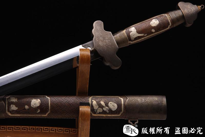 仙童剑-全手工铜鞘-坚固,古朴,大气
