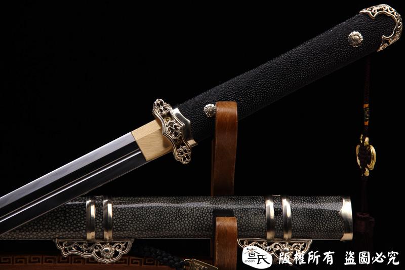 白铜经典诸刃唐刀-百炼钢烧刃-必看精品