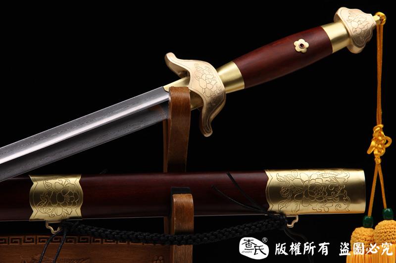 牡丹图-百炼钢武术软剑-太极剑