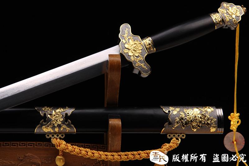 花纹钢牡丹剑