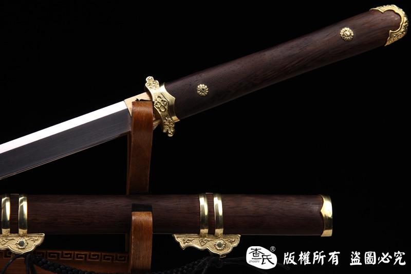 经典简装唐刀-花纹钢可以砍铁