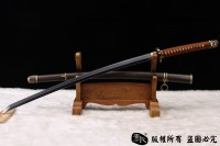 精品98军刀-地肌钢烧刃-手工铁鞘