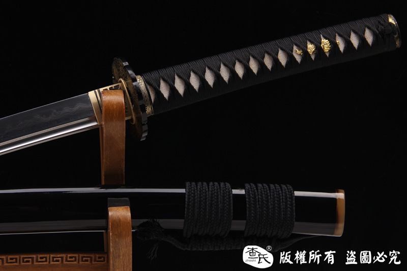 铁装地肌钢烧刃打刀