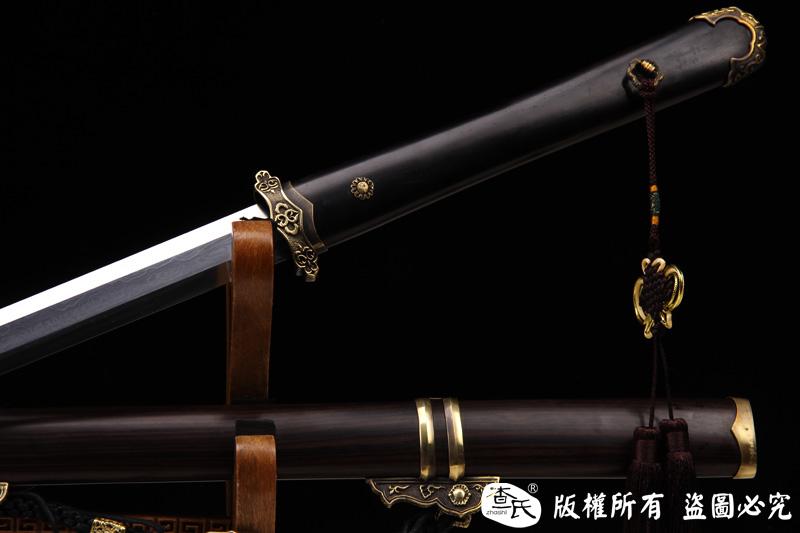 檀木铜装唐剑