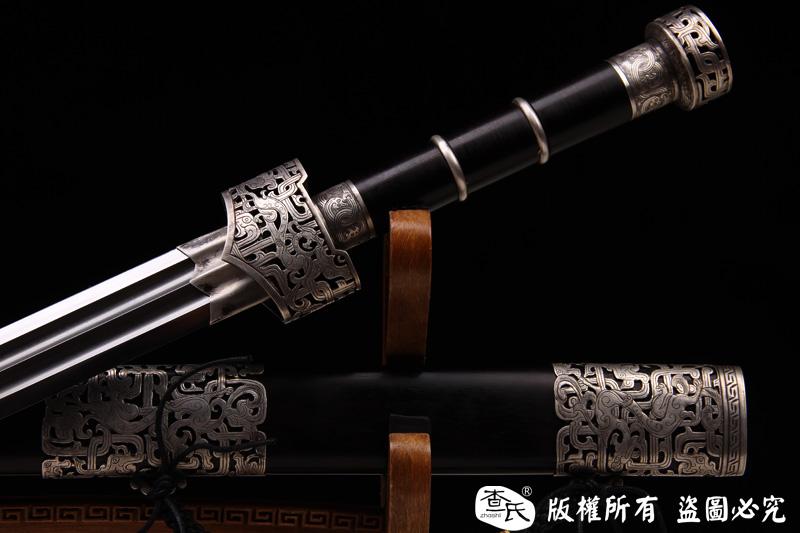 纯银手工镂空雕刻汉剑