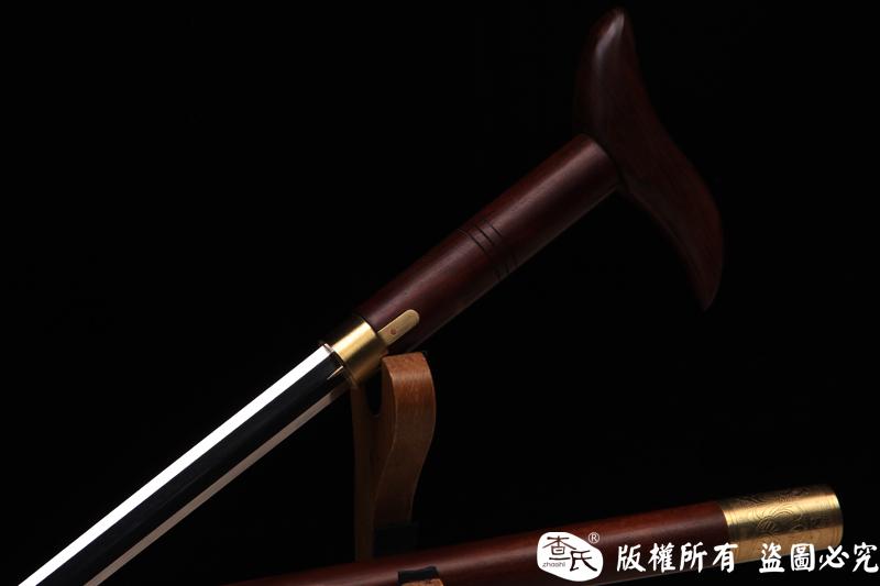 八面精品酸枝手杖剑