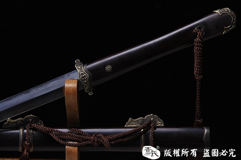 烧刃精品唐剑(花纹钢烧刃)