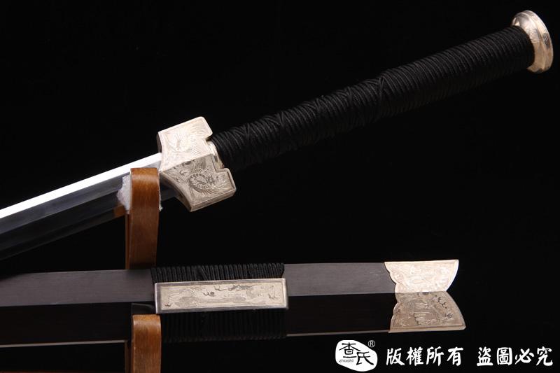 极品纯银装冰裂纹汉剑-有缘人得