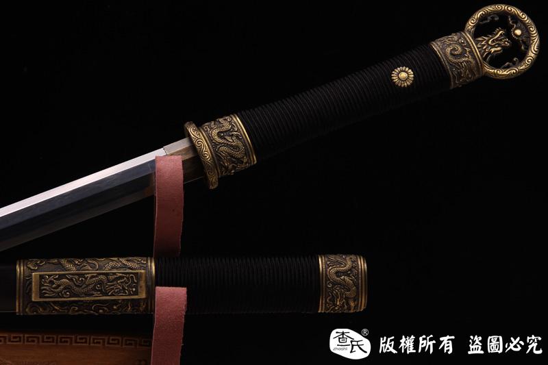 黑檀木精品八面环首汉剑-精细研磨