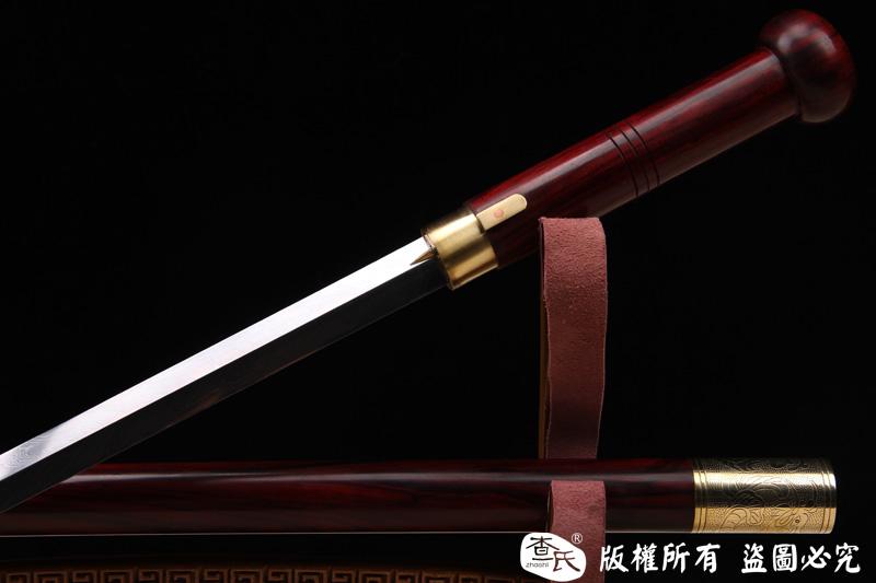 极品手杖剑(紫檀+手锻羽毛钢)