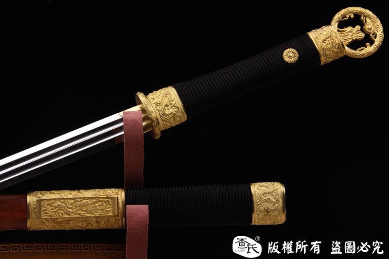 精品双槽环首剑