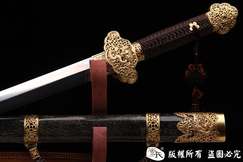 珍珠鱼皮尚方宝剑-典型清代剑