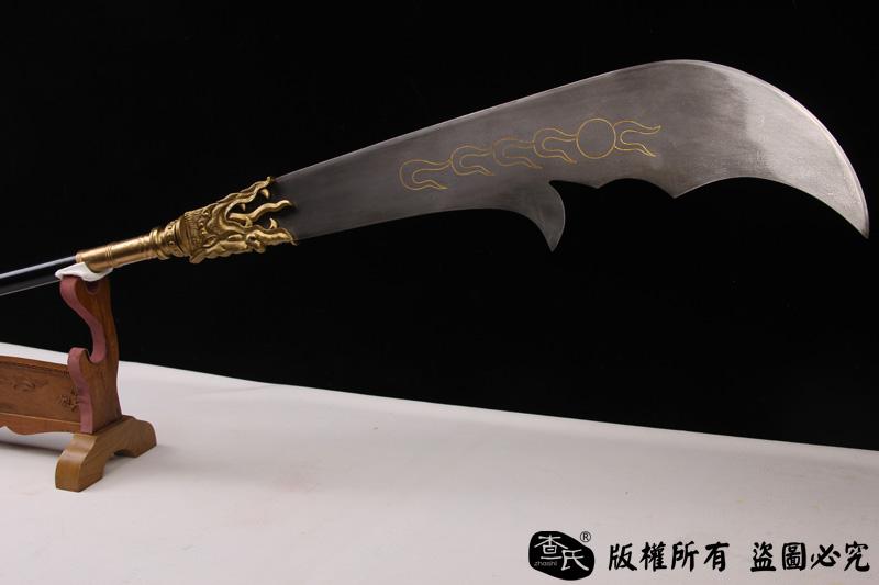青龙偃月刀-关云长用刀-手雕装具,百炼钢刀身