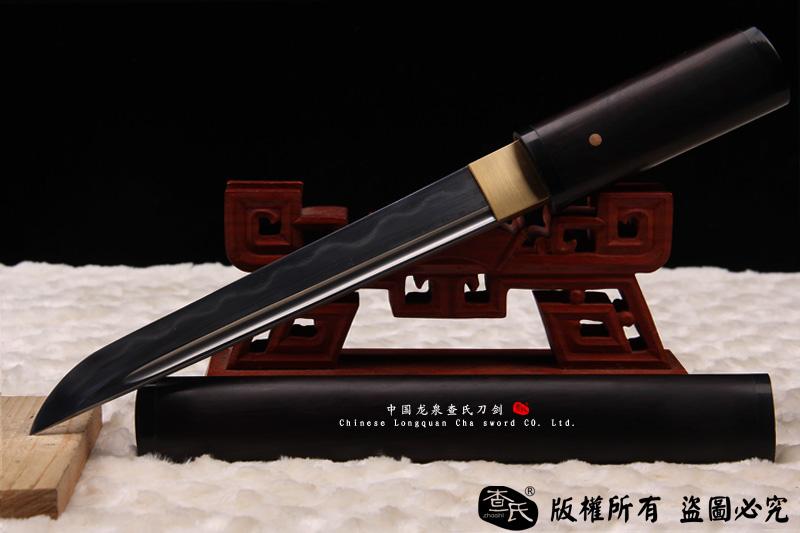 牛角短唐刀-百炼钢烧刃