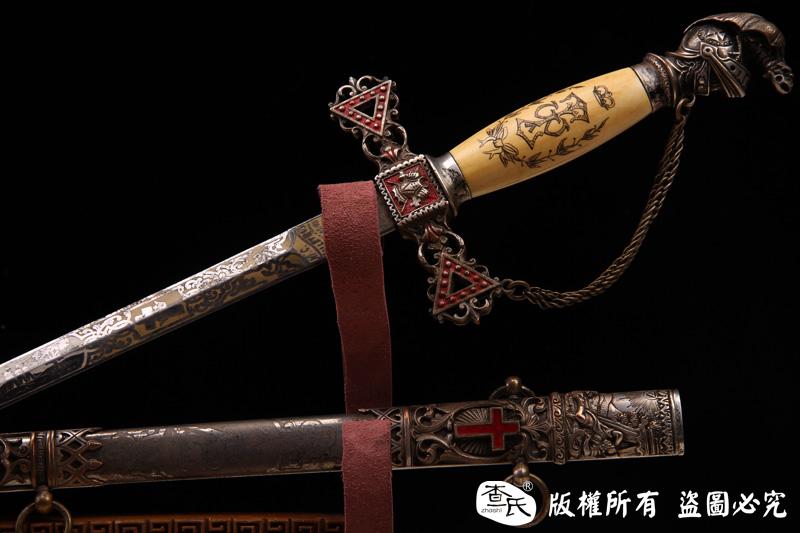 19世纪末美国共济会圣殿骑士佩剑-28-精品-已售