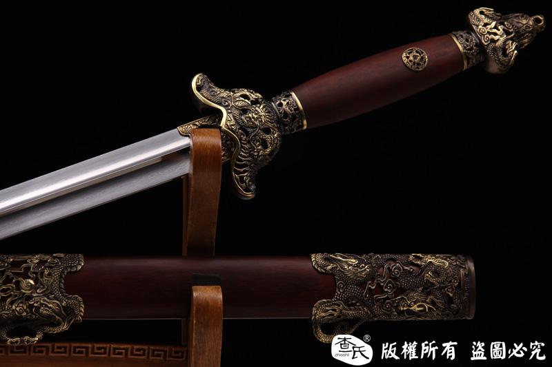 精品铜装太极剑-百炼钢软剑-武术剑-实练加收藏推荐