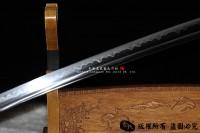 风雪打刀-T10烧刃,柄绳可以换颜色