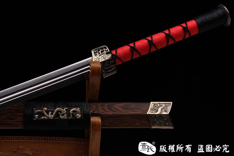 双槽花纹钢汉剑-可以砍铁