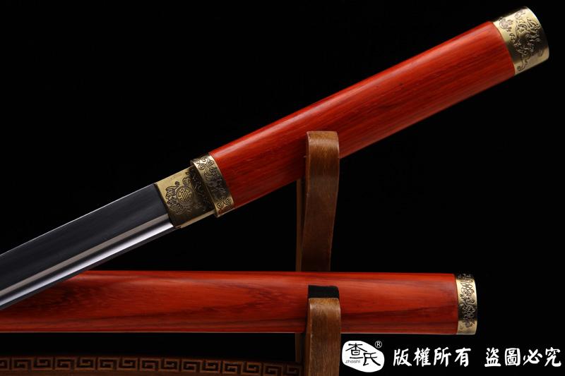 红木素装套刀-三件套唐刀