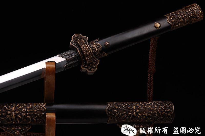 唐草铜装八面唐剑-手工万层钢打造