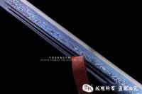 锦衣卫战刀-花纹钢烤蓝款-2017特价推荐-可以砍钢筋