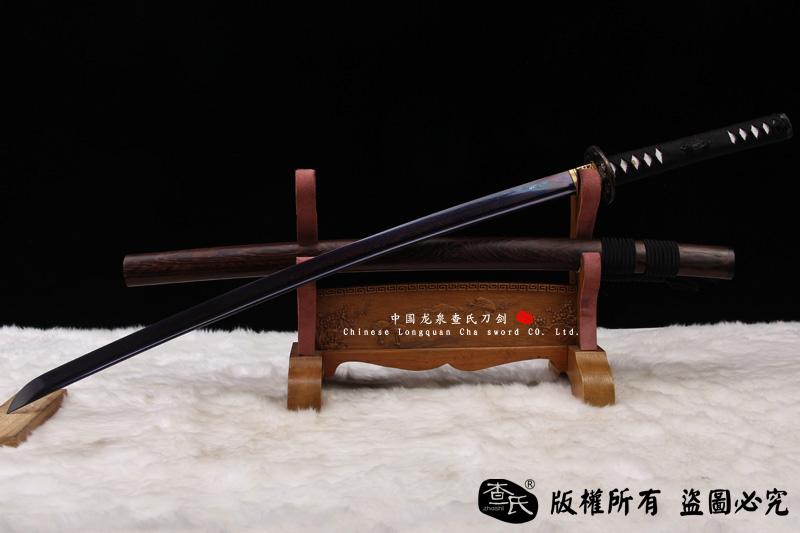 君子武士刀-花纹钢烧刃烤蓝版