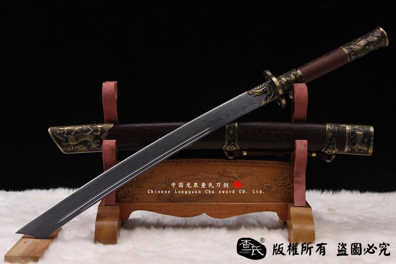 单手战刀-花纹钢