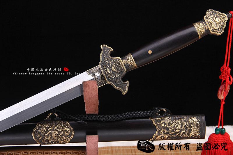 铜装经典富贵花牡丹剑-实惠款
