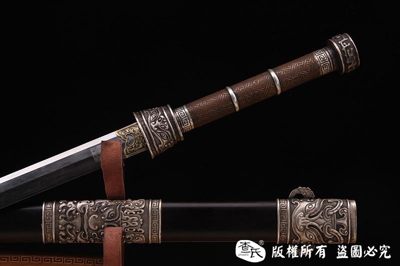 罕见银装冰裂纹剑-大师作品