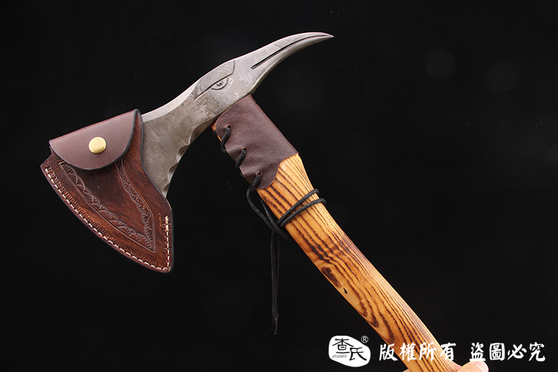 大马士革工艺斧头-木鸟
