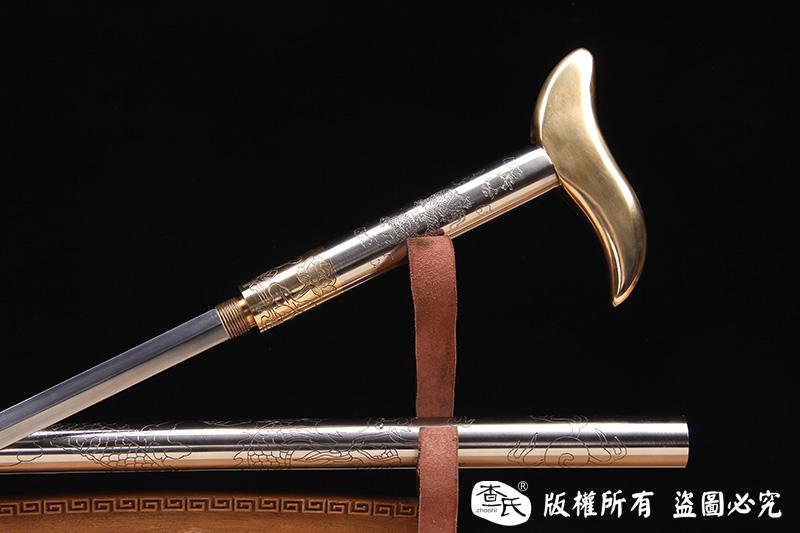 上等防身拐杖剑-防身手杖-高强度精细手工制作-3.1KG