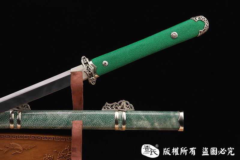 禾字号白铜唐刀-独家罕见龙腾纹